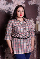 Рубашка асимметричная для крупных женщин, с 48-82 размер, фото 1