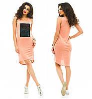 Женское летнее платье облегающее трикотаж  (расцветки)