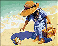 Картины по номерам - Ракушка на побережье
