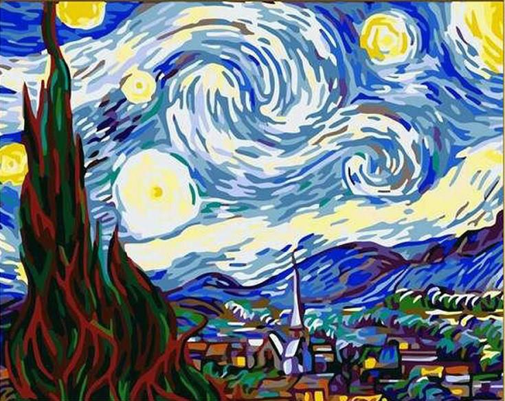 Картины по номерам Звездная Ночь. Ван Гог
