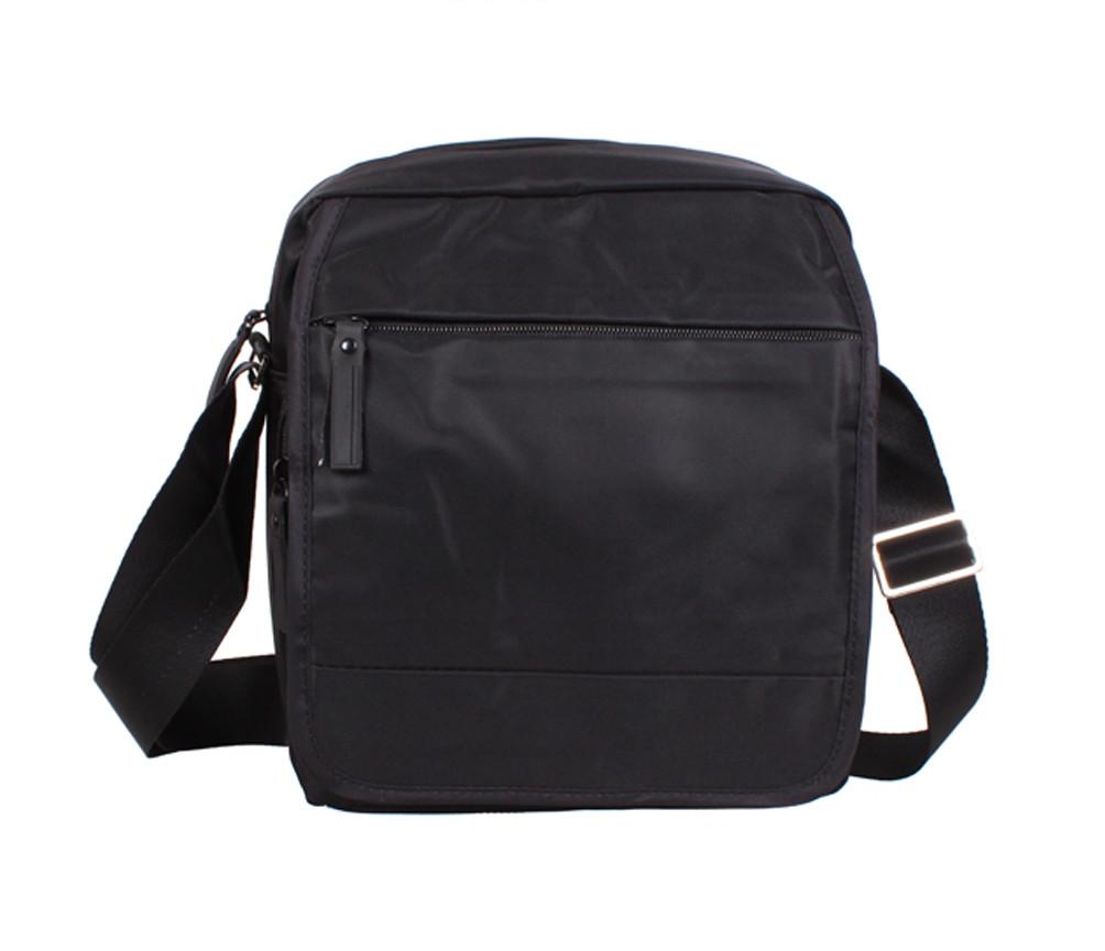cde9d18268b4 Вместительная мужская сумка из прочного текстиля Prima XLP231-33BL Черная -  Интернет магазин
