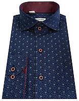 Рубашка приталенная в цветочный принт №SV 55.8 SF, фото 1