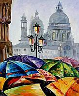 Картины по номерам Яркие зонтики
