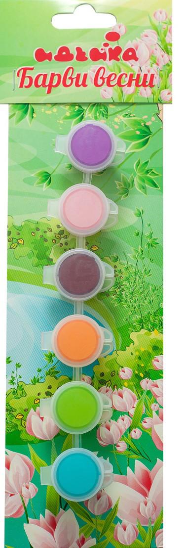 Акриловые краски - Краски весны (6 цветов)