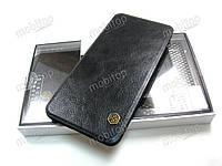Кожаный чехол Nillkin Qin Samsung Galaxy A8 2018 A530F (черный), фото 1