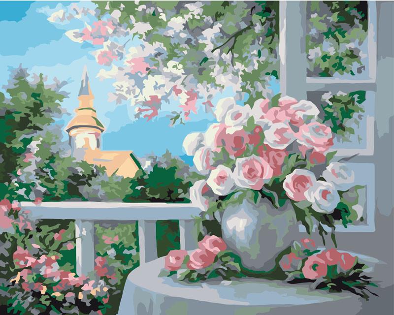 Картина по номерам - Шарм цветущего сада