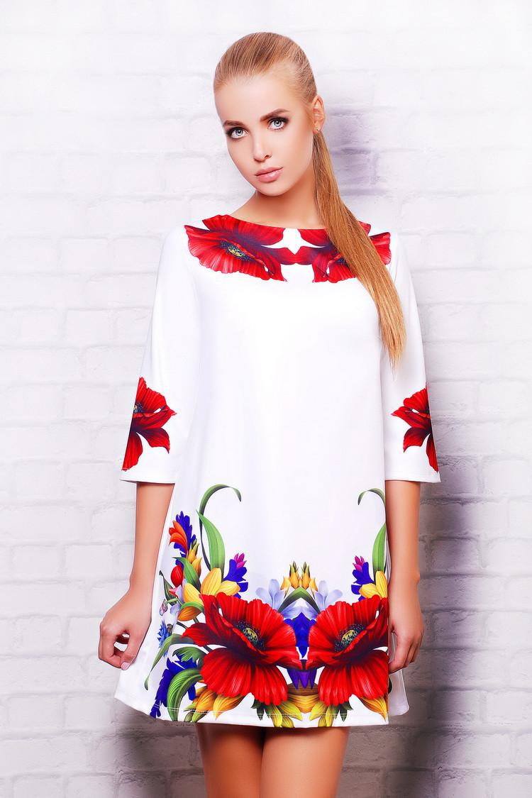 Платье Тая-3 маки д/р
