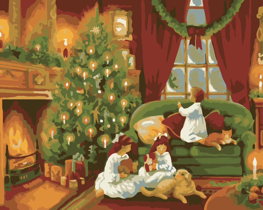 Картина по номерам - Рождественская ночь