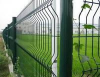 Ворота распашные 1750*4000 мм (2 столба+2 створки ворот) оц. ПВХ. Цвет зелёный