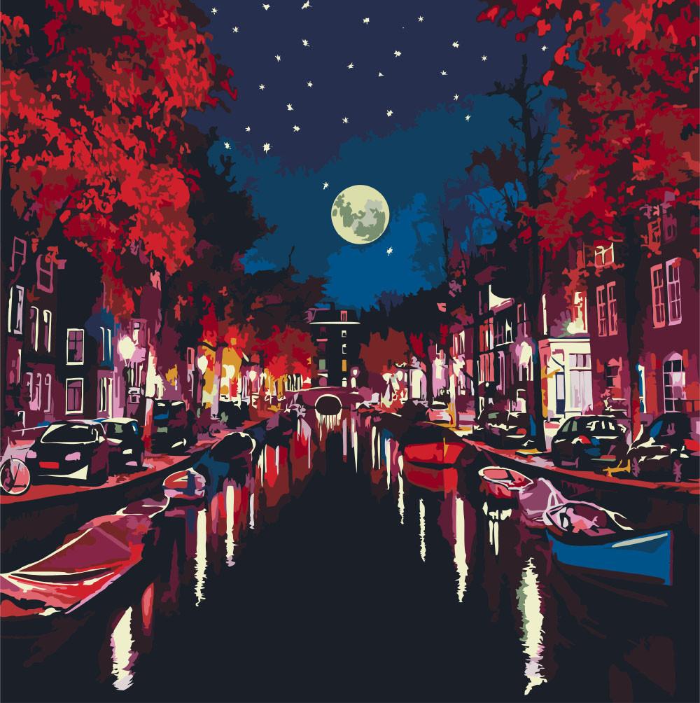 Картины по номерам - Ночью в Амстердаме