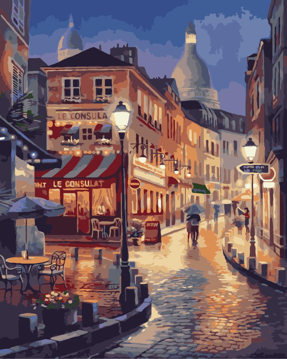 Картина по номерам - Прогулка по вечернему Парижу