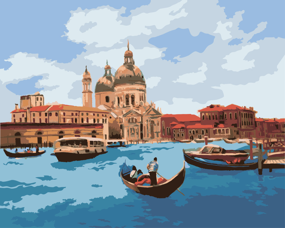 Картина по номерам - Полдень в Венеции