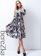 Платье с цветочным принтом в винтажном стиле, фото 1
