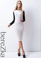 Облегающее платье с  контрастными рукавами , фото 1
