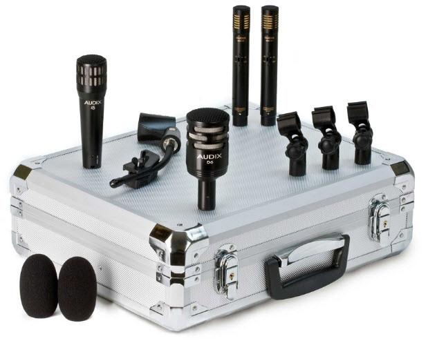 Набор из четырех микрофонов для барабанной установки AUDIX DP Quad