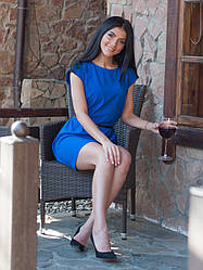 "Синее женское платье ""Камелия""."