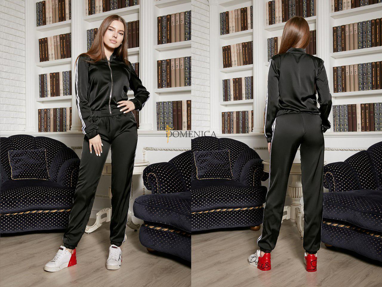 33424a41f6b Купить Шёлковый женский спортивный костюм с лампасами tez3105312 ...