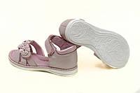 Розовые с перламутром нарядные кожаные босоножки на девочку р.26,31