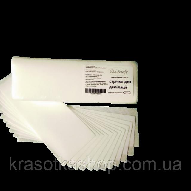 Папір на смужки для депіляції Silk Soft, 100шт/уп