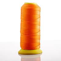 Нитка Оранжевый d-0.9 мм капроновая для рукоделия 500 м