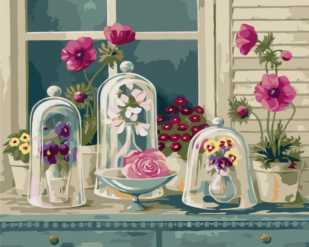Картина по номерам - Цветочное разнообразие