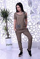 Женский костюм варенка из хлопка с футболкой tez5510467