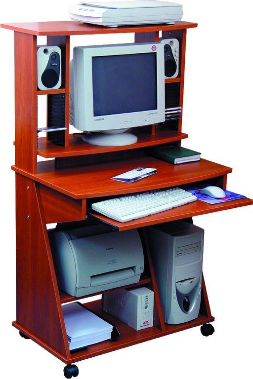 Стол компьютерный С500/550 (800х550х1400h мм.) М яблоня. Габариты стола: 800х550х1400h мм.  ДСП 16/18 мм экологического класса Е1.