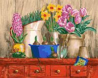 Картина по номерам - Цветочная идилия