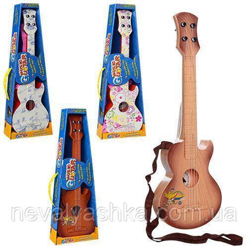 Музыкальная Детская Гитара Струны Игрушечная, 49см 137-2-3-8-9, 007813
