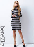 Облегающее платье мини в рубчик с воротником поло, фото 1