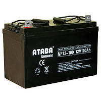 Аккумулятор мультигелевый ATABA Ukraine NP12-100 12V 100AH, (AGM) для ИБП, фото 1