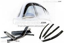 Дефлекторы боковых окон (ветровики) для Citroen Jumper 2015-..., 2ч, темный EU Standart