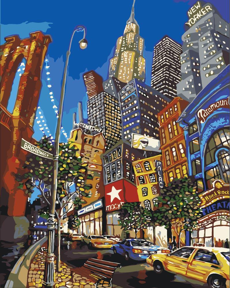 Картина по номерам - Улицами Нью-Йорка