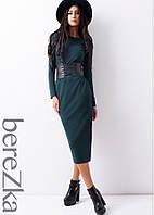 Трикотажное платье c вырезом и корсетом , фото 1