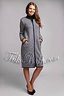 Женское удлиненное вязаное пальто