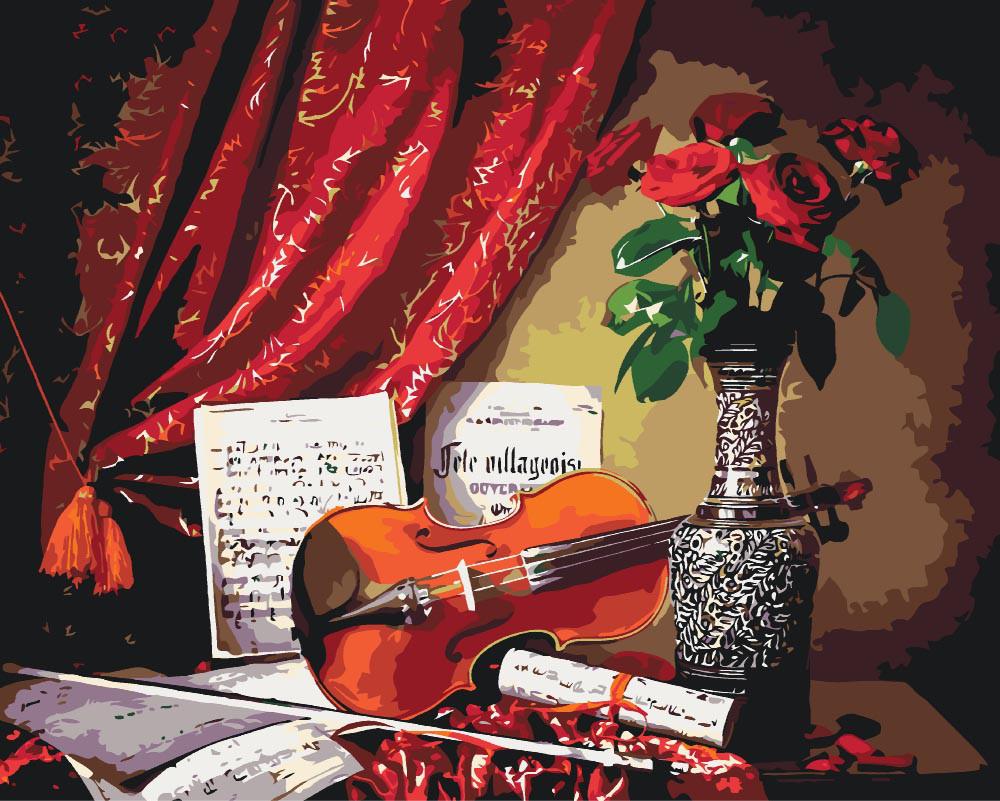 Картина по номерам - Мелодия скрипки 2