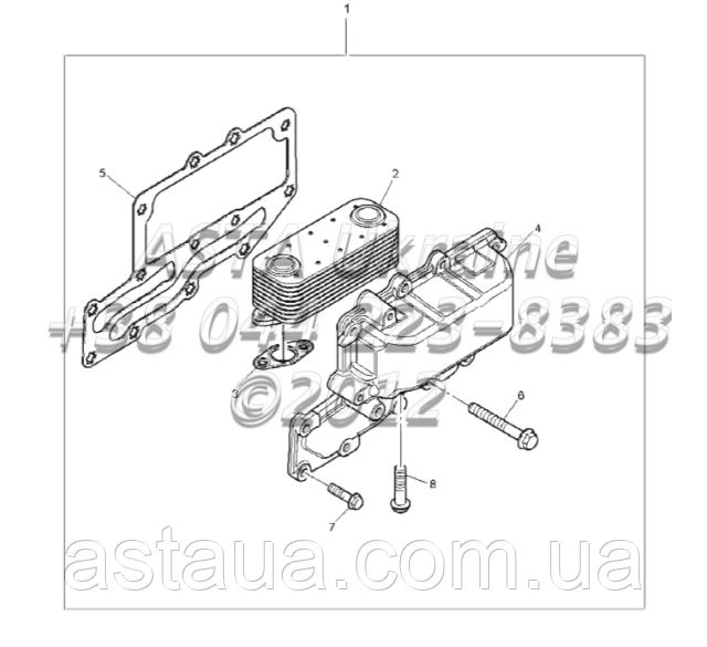 Охладитель масла двигателя 1104C-44T, RG38101 G1-9-1