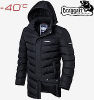 Куртка зимняя длинная на меху Braggart Aggressive - 1378#1377 черный, фото 1