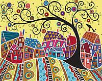 Картина по номерам - Яркий городок