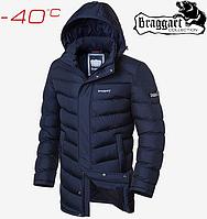 Куртка длинная на меху Braggart Aggressive - 1378#1377 синий, фото 1