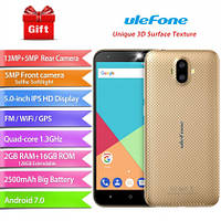 "Телефон Ulefone S7 Pro 5.0"" 2/16Gb 13+5MP MT6580 2500 mAh 3G +бампер!"