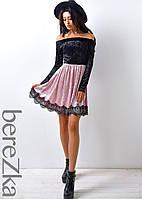 Платье из мраморного велюра , фото 1
