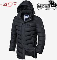 Куртка мужская длинная на меху Braggart Aggressive - 1378#1377 графит, фото 1