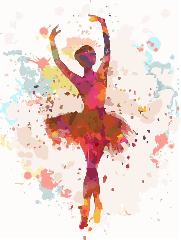 Картина по номерам - Балерина 2