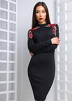 Облегающие платье с вышивкой, фото 1