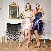 88091c54924 Платье с атласной двойной юбкой и кружевным верхом без бретель tez31031250