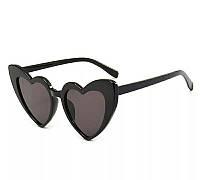 Женские очки солнцезащитные в форме сердца Чёрный