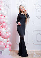Коктейльное платье макси с кружевной отделкой , фото 1