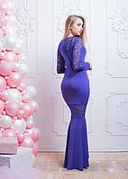 Коктейльное платье макси с кружевной отделкой, фото 1