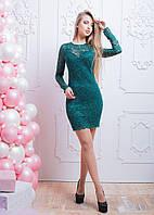 Кружевное облегающее платье мини, фото 1